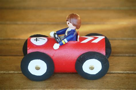 Toilet Paper Roll Car Craft - how to make toilet paper roll race cars diy crafts