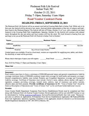 californias food vendor contract form fill online