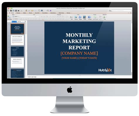 Monthly Marketing Reporting Template Free Download Hubspot Marketing Templates