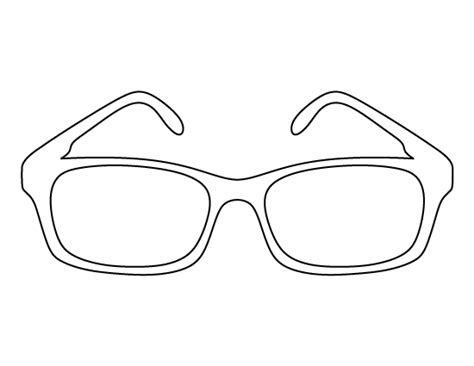 eyeglass template glasses pattern use the printable outline for crafts