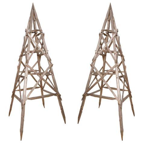Garden Triangle Trellis pair of quot pyramid quot garden trellis