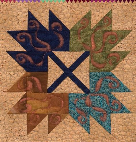 Maple Leaf Quilts by Maple Leaf Quilt Block X 4 From The Book Maple Leaf Quilts