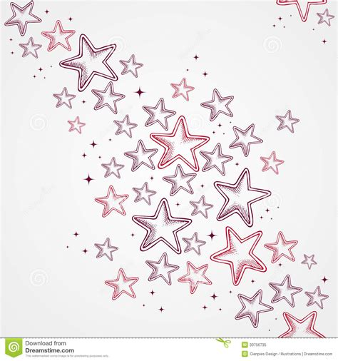 hand drawn pattern background merry christmas star shapes seamless pattern backg stock