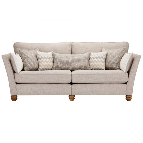 Beige Couches by Gainsborough 4 Seater Sofa In Beige Matching Scatters
