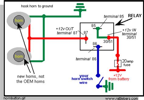 how to wire a relay for horns on mgb and other