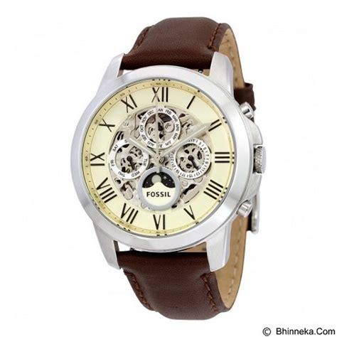 Jam Tangan Pria Fossil Me3111 Silver Skeleton jual fossil jam tangan pria grant skeleton me3027 white merchant murah bhinneka