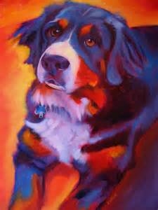 smart class warm cool color dog paintings