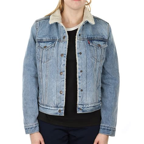 Jaket Says Denim Original X Levis Womens Original Sherpa Trucker Jacket
