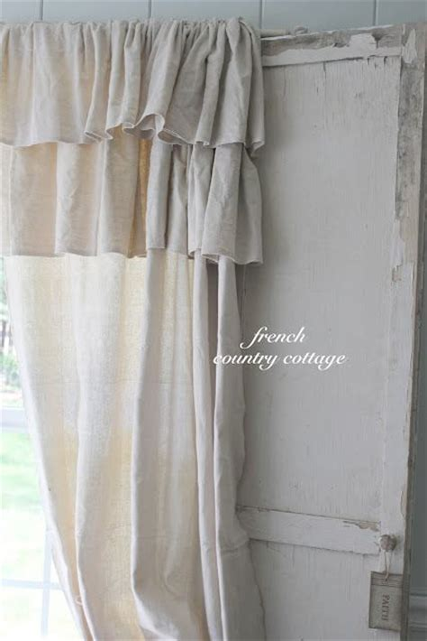 drop cloth curtains tutorial french country cottage double ruffle drop cloth panels