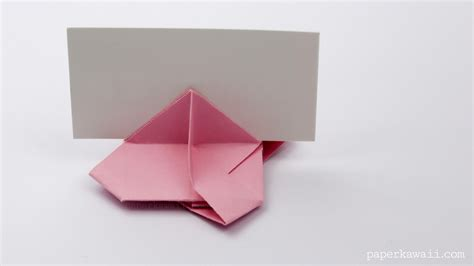 Origami Card - origami card holder paper kawaii