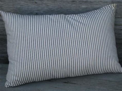Are Feather Pillows by Primitive Feather Pillows Vintage Blue Stripe Heavy