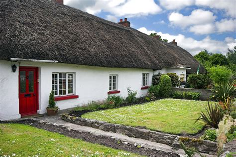 Adare Ireland Thatched Cottages thatch roof cottage in traditional of adare