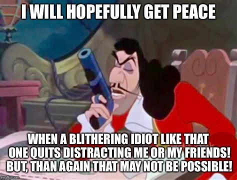 Hook Meme - captain hook i will hopefully get peace imgflip