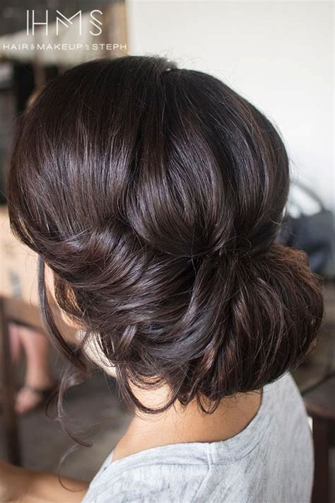 formal hairstyles brown hair 25 best ideas about wedding hair brunette on pinterest