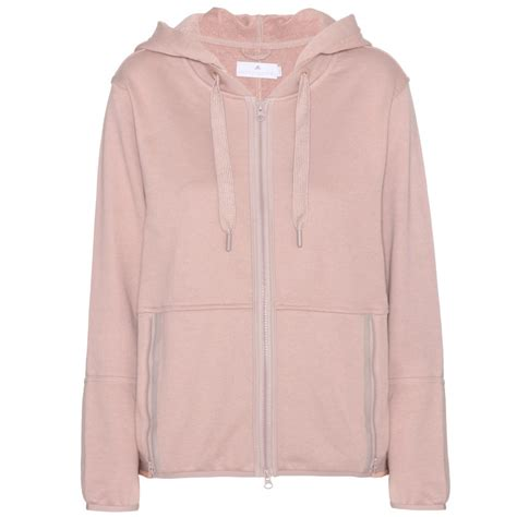 Cotton Lab Essential Hoodie Zipper 2 Tone Maroon 1 lyst adidas by stella mccartney essentials cotton blend hoodie in pink
