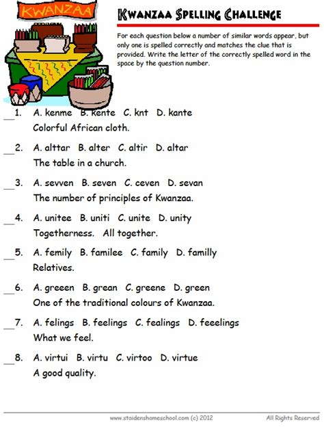 zulu printable worksheets free kwanzaa vocabulary worksheets for grades 1 3