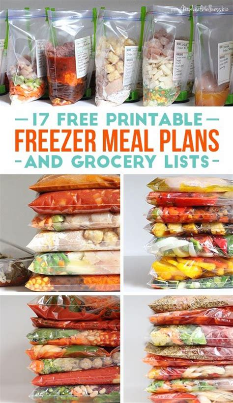 printable meal recipes 17 free printable freezer meals and grocery lists great
