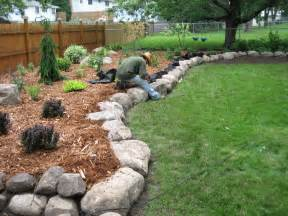 Tropical Plants Perth - fieldstone boulder wall amp planting bed pahl s market apple valley mn