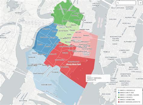 map of neighborhoods 2 wards and neighborhoods dashboards jersey city open data