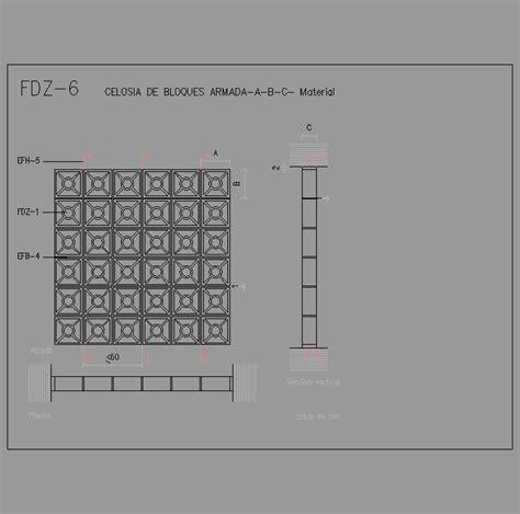 barandilla bloque autocad cad projects biblioteca bloques autocad fdz 06