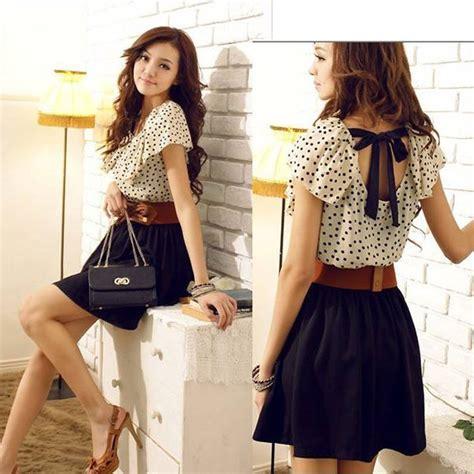 Dress Pesta Motif Bunga Korean Style 2 model baju pesta sifon yang menarik saat ini