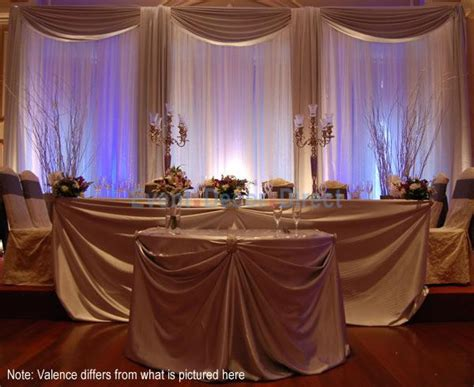 head table draping t j memories wedding table setting ideas