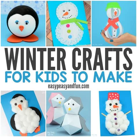 Winter Crafts For To Make Easy Peasy And