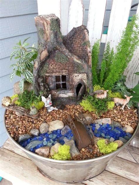 miniature gardening com cottages c 2 enchanted hollow fairy garden fairy gardens pinterest