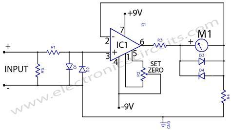 resistor meter circuit micro ere meter electronic circuits