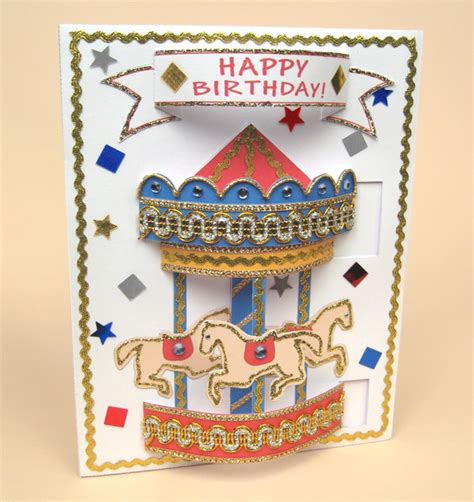 card templates for pop up carousel card envelope