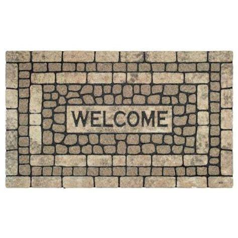Home Depot Garden Stones by Mohawk Garden Welcome Brown 1 Ft 6 In X 2 Ft 6 In