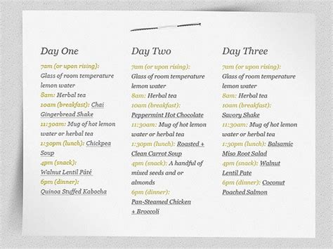 Detox Diet Menu by Fruit And Vegetable Detox 3 Day Diet Comicstoday