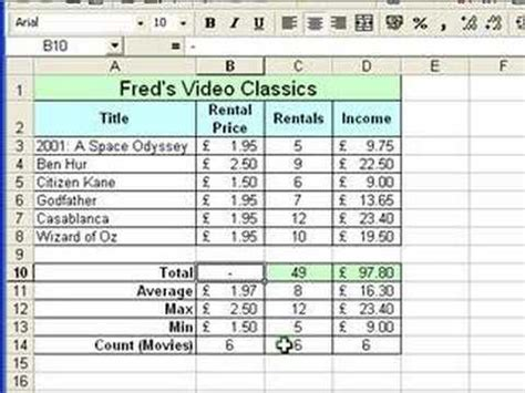 video tutorial excel microsoft excel tutorial for beginners 7 formatting pt