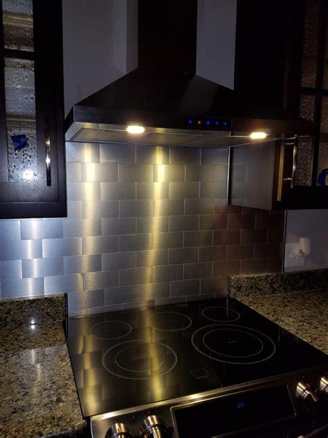 2 X 6 Subway Tile Backsplash by 100 Pieces Peel Stick Aluminum Brushed Backsplash Tiles