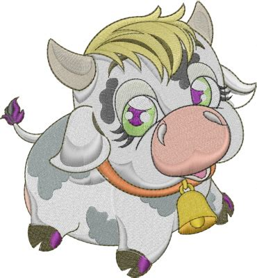 cute cow embroidery designs, machine embroidery designs at