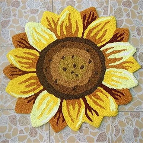 flower rugs sunflower bathroom accessories and decor