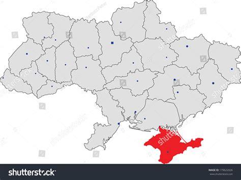 ukraine map vector ukraine vector map with the crimea peninsula highlighted