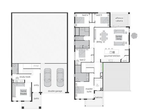 the highlands split level floor plan by mcdonald jones
