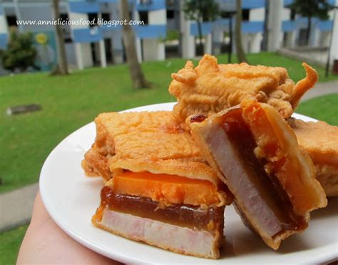 how to fry new year rice cake annielicious food fried quot nian gao quot sticky rice cake 炸年糕