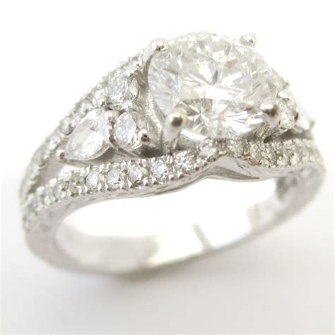 cut antique style engagement ring kr122