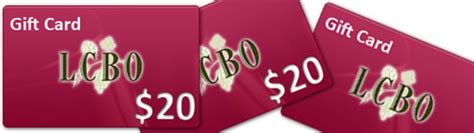 Lcbo Gift Card - a 20 gift card at lcbo contest website july 25 2014