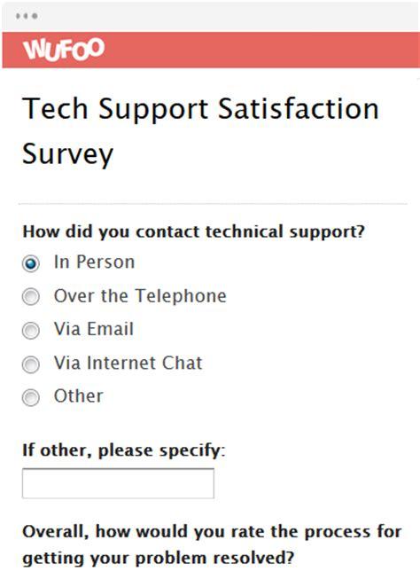 Survey Form Templates Wufoo Technology Site Survey Template