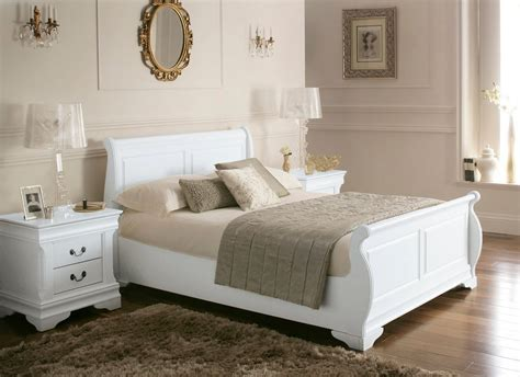 White Wooden Sleigh Bed White Wood Sleigh Beds Louie Wooden Sleigh Bed White King Size Wooden Beds Bed Sizes