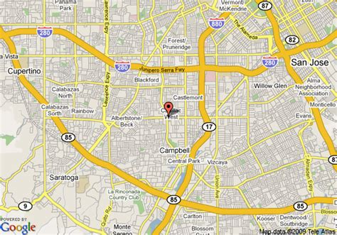 san jose ca mapquest map of cbell ca pictures to pin on pinsdaddy