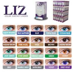 color contact brands liz eye color contact lens 20 different colors to choose