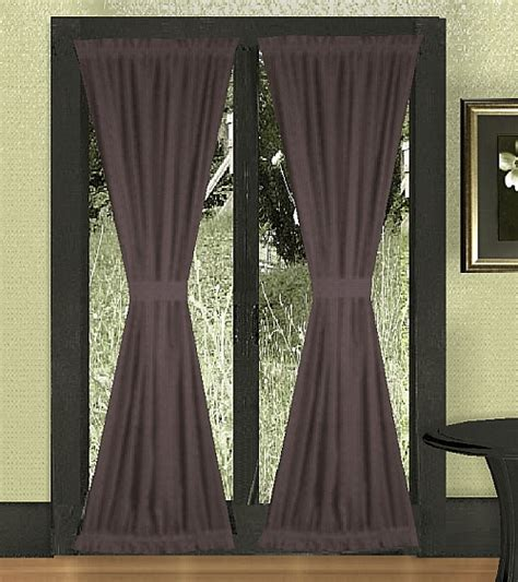 french door drapes eggplant purple french door curtains