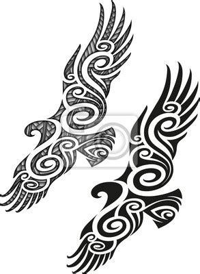 pattern znaczenie fototapete maori tattoo muster adler taetowierer