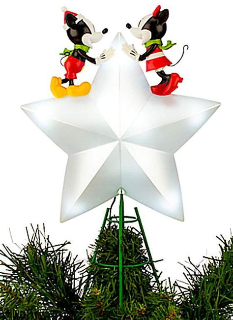 disney mickey and minnie mouse light up tree topper