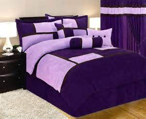 Purple Bed In A Bag Sets New Bed In A Bag Purple Suede Comforter Set King Ebay