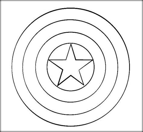 Avengers Captain America Coloring Pages Color Zini Captain America Shield Coloring Pages Printable